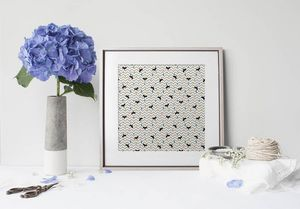 la Magie dans l'Image - print art renard confettis - Poster