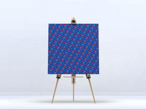 la Magie dans l'Image - toile héros petits coeurs bleu - Digital Wall Coverings
