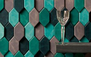 CUIR AU CARRÉ -  - Wall Covering