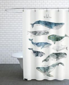 JUNIQUE - whales - Shower Curtain