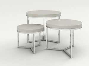 Marais International - gigognes laque & acier - Nest Of Tables
