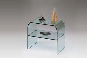 Marais International - table de chevet en verre - Bedside Table