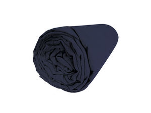 BLANC CERISE - peignoir capuche - coton peigné 450 g/m² bleu - Fitted Sheet