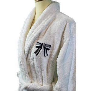 Liou - peignoir de bain blanc so chic bleu - Bathrobe