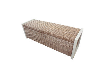 City Green - coffre banc de jardin en kubu 3 places malacca - 1 - Garden Bench With Storage
