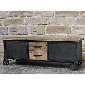 CHEMIN DE CAMPAGNE - bahut enfilade meuble de télé tv à tiroirs placard - Media Unit