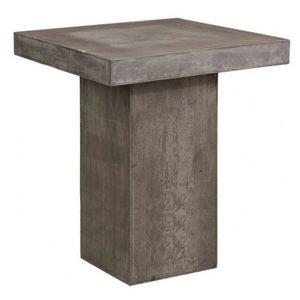 Mathi Design - table haute béton carrée - Bar Table