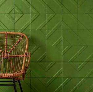 CUIR AU CARRE - 'géométrie variable - Wall Covering