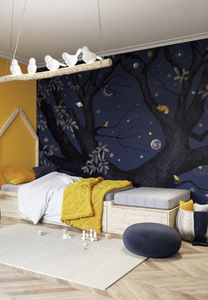 ISIDORE LEROY - abracadabra nuit - Children's Wallpaper