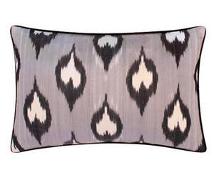 MAISON KHEL - silky ikat gris lucia - Cushion Cover