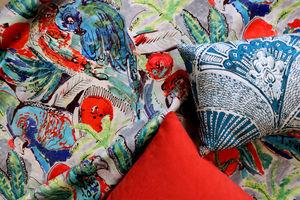 LALIE DESIGN - papagai bleu - Fabric By The Metre