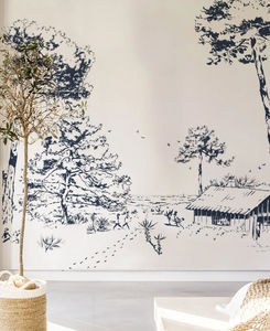ISIDORE LEROY - les pins - Panoramic Wallpaper