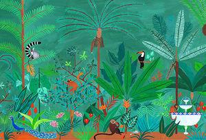Ananbô - jangal couleur - Panoramic Wallpaper