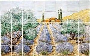 Les Carrelages Boutal - champ de lavande - Ceramic Panel