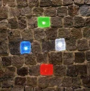 Illuminated paving stone