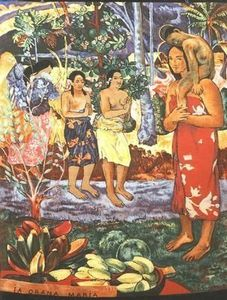 Tapisseries De France - gauguin: ia orana maria - 1893 - Modern Tapestry