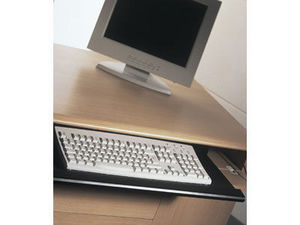 Sliding keyboard shelf