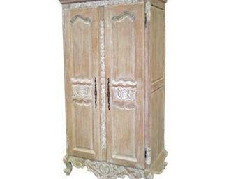 DECO PRIVE - armoire versailles cerusee - sur commande - Wardrobe