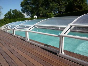 Abrideal - mezzo finition transparence - Sliding/telescopic Pool Enclosure