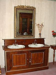 Loic Bougo - meuble de salle de bains avec 2 éviers - Bathroom Furniture