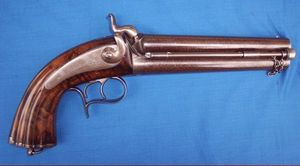 Cedric Rolly Armes Anciennes - pistolet d officier d etat major 1855 - Pistol And Revolver