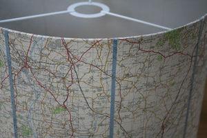 Sarah Walker Artshades - map shade - Ceiling Lamp