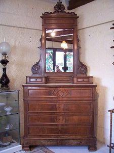 Le Grenier de Matignon - coiffeuse / commode en acajou de la fin du xixe si - Dressing Table