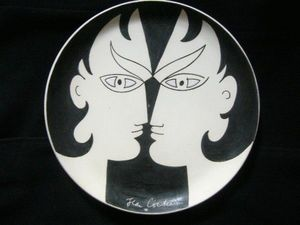SYLVIA POWELL DECORATIVE ARTS - les dioscures - Decorative Platter