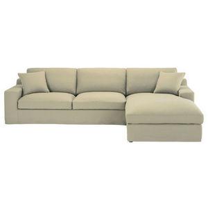 MAISONS DU MONDE - canapé angle 5 places fixe coton mastic stuart - Corner Sofa