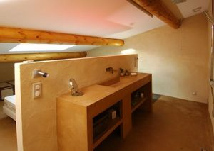 Rouviere Collection - mobilier en béton ciré - Waxed Concrete For Wall