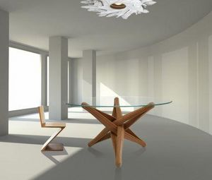 PLANKTON avant garde design - lock - Round Diner Table