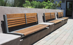 Maglin Site Furniture - 720 backed wall - Town Bench