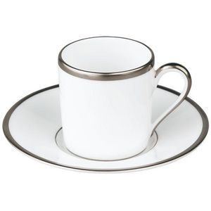 Raynaud - fontainebleau platine (filet marli) - Coffee Cup