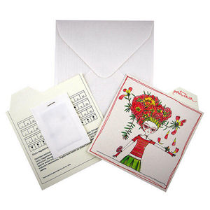 ROSSO CUORE - seeds cards fiori - Greeting Card