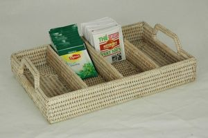 BaolgiChic - rotin blanc - Tea Bag Organizer