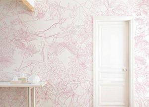 Ohmywall - jungle tropical rose - Panoramic Wallpaper