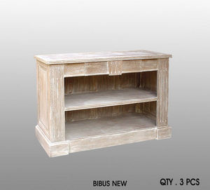 DECO PRIVE - meuble bibus new beige ceruse - Book Cabinet