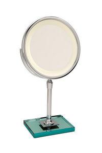 Miroir Brot - elegance c24 sur dalle de verre - Lighted Tabletop Mirror