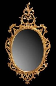 The English House - chippendale oval mirror - Mirror