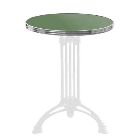 Ardamez - Bistro table top-Ardamez-Plateau de table de bistrot émaillée / réséda