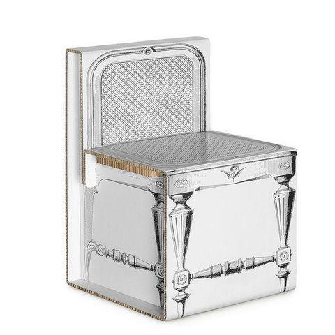 Corvasce Design - Chair-Corvasce Design-Sedia in Cartone Luigi XVI