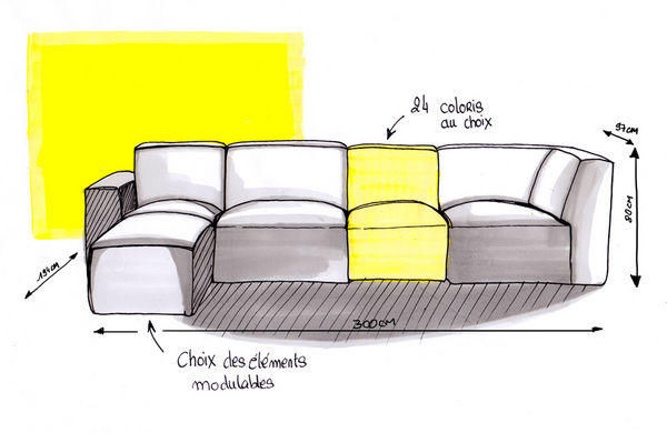 LE POINT D - Adjustable sofa-LE POINT D-Cubik