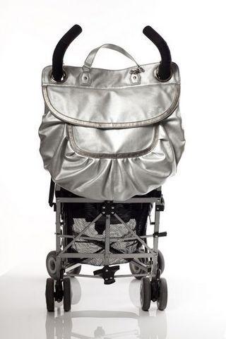 MAGIC STROLLER BAG - Nappy bag-MAGIC STROLLER BAG-Glam Silver