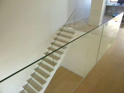 TRESCALINI - Stair railing-TRESCALINI-Raily : garde-corps verre extra clair