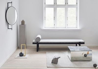 KRISTINA DAM STUDIO - Square coffee table-KRISTINA DAM STUDIO-Mirror