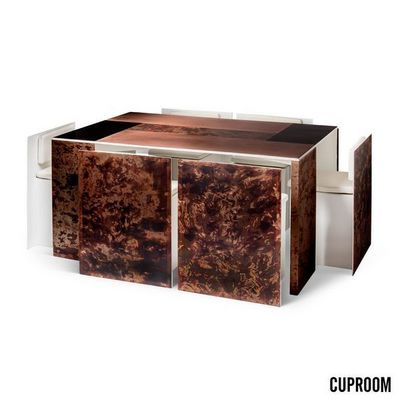 CUPROOM - Rectangular dining table-CUPROOM-STONE AUTUMN