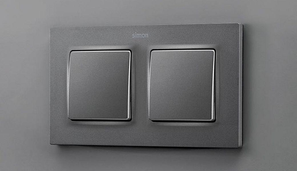 Simon Doppel-Schalter Elektroinstallation Innenbeleuchtung  |
