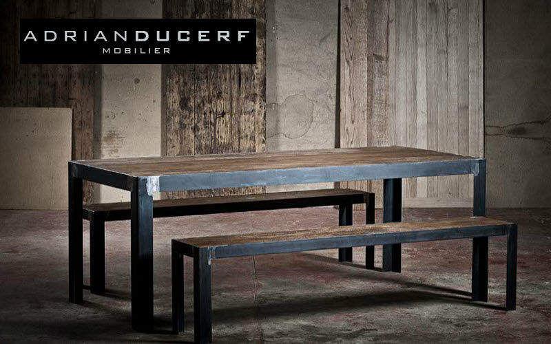 ADRIAN DUCERF Rechteckiger Esstisch Esstische Tisch Esszimmer | Design Modern