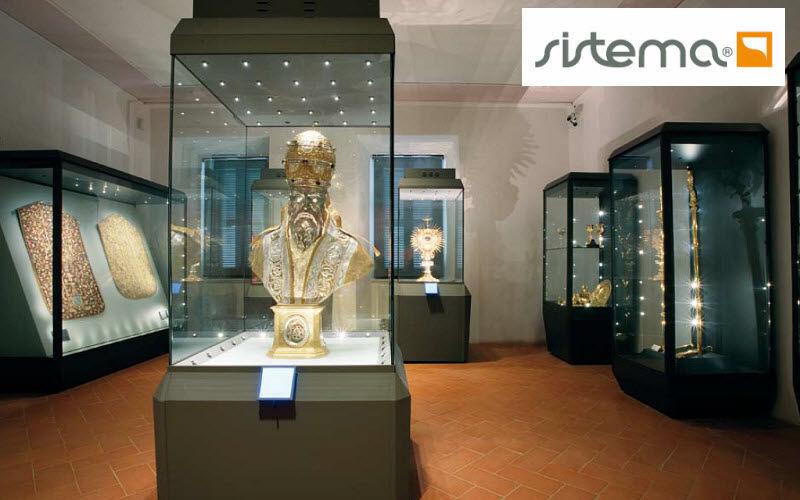 SISTEMA Museumsvitrine Profi Vitrinen Tisch   