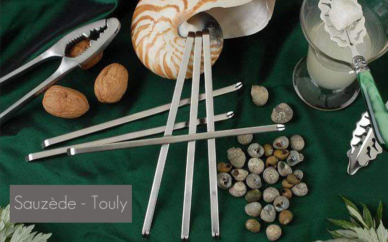 Sauzede- Touly Kürette für Meeresfrüchte Zangen und Spieße Tischzubehör   
